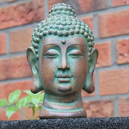 Deko Buddha Kopf Figur Statue Skulptur Feng Shui 20cm