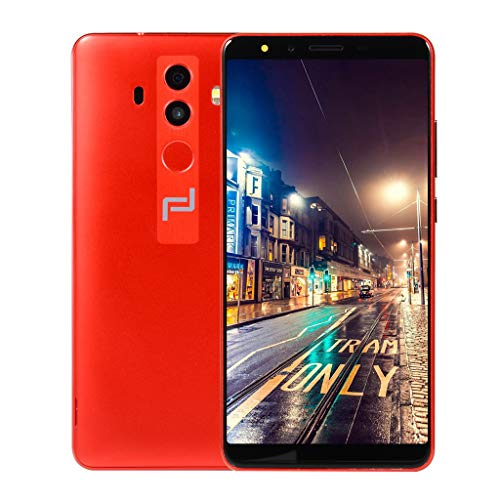 Fuibo Smartphone Günstig Handy 5.7 Zoll Ultrathin Android 6.0 Dual Core 512MB + 4G GSM WiFi Dual SIM Handy, Dual Kamera(2.0MP+0.3MP), Auflösung: 960x540 (Rot) Android 4.0.4 Dual-core