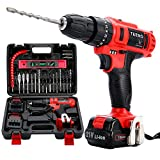 TEENO 21V Impact Cordless Drill Set with 2 Lithium Ion Batteries 1500mAh, 1