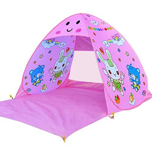 YZGS Outdoor - Zelt am Strand Sonnenschirm - konto Automatisch Kinder Bauen, Portable Indoor - Spiel Schnell öffnen Frei Haus Rosa schattierung.