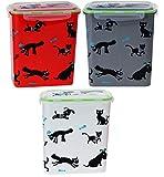 matrasa Futterdose 2,5L Aufbewahrungsdose für Hundefutter/Katzenfutter - Lock Verschluss grau