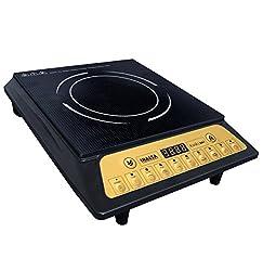 Inalsa Kwik Cook 2000-Watt Induction Cooker (Black/Golden)