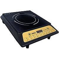 Inalsa Kwik Cook 2000-Watt Induction Cooker (Black/Golden) at amazon