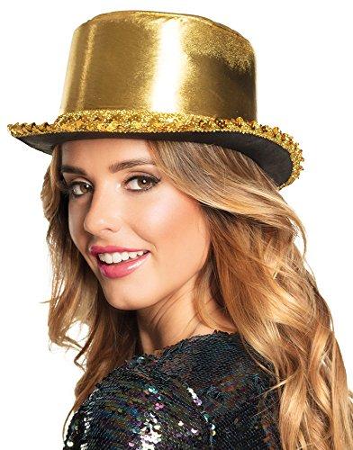 Zylinder Hut Shine Gold