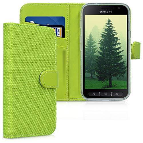 kwmobile Samsung Galaxy Xcover 4 Hülle - Nylon Handyhülle Wallet Handy Case für Samsung Galaxy Xcover 4 mit Standfunktion