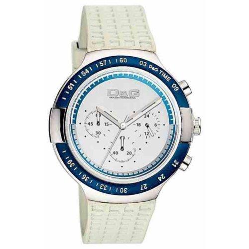 Dolce & Gabbana - DW0417 - Montre Homme - Quartz - Chronographe - Bracelet Caoutchouc Blanc