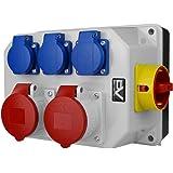 Stroomverdeler BAU 2x16A 3x230V met schakelaar 0-1 32A wandverdeler Doktorvolt® 9771