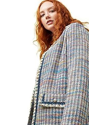 VIOLETA (Plus Size) - Pocket tweed jacket