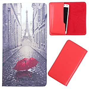 DooDa - For Njoy-X E8 PU Leather Designer Fashionable Fancy Case Cover Pouch With Smooth Inner Velvet