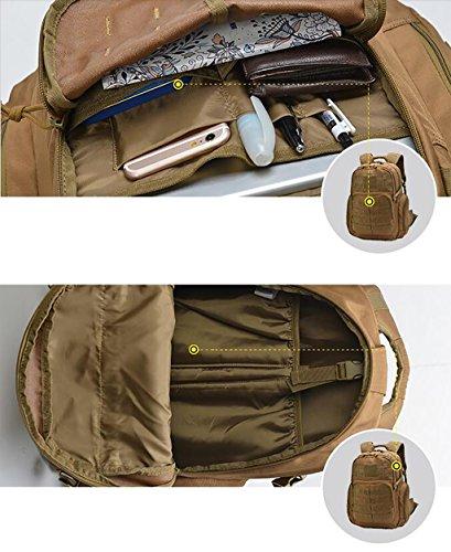 HWLXBB Outdoor Bergsteigen Tasche Männer und Frauen 30L Wasserdichte Mehrzweck-Bergsteigen Tasche Wandern Camping Bergsteigen Freizeit Rucksack Rucksack 1*