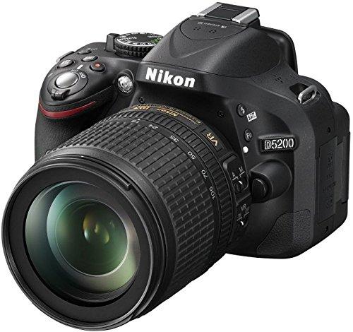 Nikon D5200 SLR-Digitalkamera (24,1 Megapixel, 7,6 cm (3 Zoll) TFT-Display, Full HD, HDMI) Kit inkl. AF-S DX 18-140mm VR-Objektiv schwarz