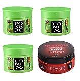 Fonex Matte Look 100 ml 3 Stück - Gummy Styling Wax Ultra Hold 1 Stück SPECIAL PACK II