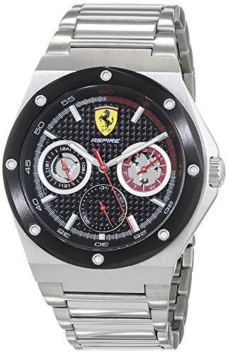 Scuderia Ferrari Reloj Multiesfera para Hombre de Cuarzo con Correa en Acero Inoxidable 830535
