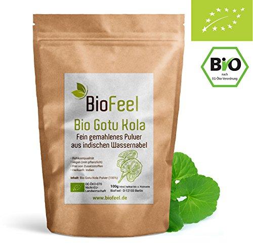 BioFeel - Bio Gotu Kola Pulver, 100g - Indischer Wassernabel -