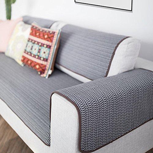 J&DSU Sofa abdeckungen für ledersofa Couchbezug 1-teilige Schmutzabweisend Anti-Skid Abschirmungsabdeckung 1 2 3 4,Maschine waschbar-A 70x240cm(28x94inch)