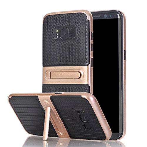 Samsung Galaxy S8Plus Hülle,LTWS [Slim Armor] [Doppellagige] Stoßfester Schlanker Case mit Kickstand Doppelte Schutzschicht TPU + PC Handyhülle Schutzhülle / Tasche / Gehäuse / Zubehör mit Standhalter für Galaxy S8Plus -Rose Gold