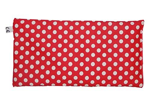 Produktbild Minaryc Kirschkernkissen Rot mit weißen Punkte gepunktet versch. Größen Wärmekissen (ca. 30x15cm)