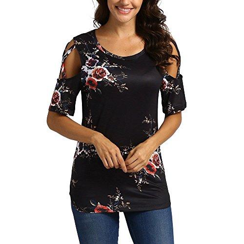Porlous Damen Tunika T-Shirt Gr. 56, Noir 02