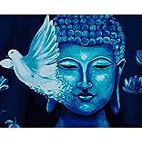 OKOUNOKO Erwachsenenfarbe Nach Zahlen Vogel Buddha Malerei Malen Nach Zahlen DIY Ölgemälde Handgemalte Malen Nach Zahlen Kunst Bild Für Wohnkultur Frameless 40X50Cm