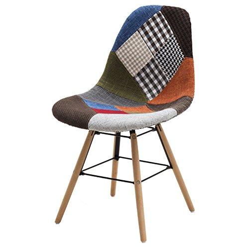 White Loft lf664 Lot de chaises, Bois, Multicolore, 47 x 58 x 84 cm, 2 unités