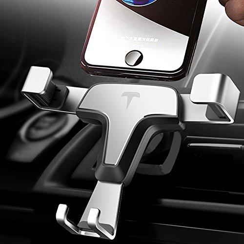 JIXUN KFZ-Halterung, Universal Gravity Handy Air Vent Mount Winkel Einstellbar Cradle für iPhone X/8/8Plus/7/7Plus/6/6S Plus, Galaxy S9/S8/S7Edge und Andere Handys (Edge-mount-scharnier)