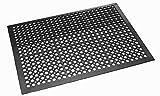 Trend Products Stuttgart Gummimatte/Schmutzfangmatte ca. 91 x 150 cm, 15 mm, schwarz, robuste Fußmatte für den Außenbereich