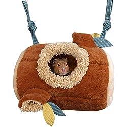 MQFORU Hamac pour Hamster ou Hamster en Polaire Chaude à Suspendre