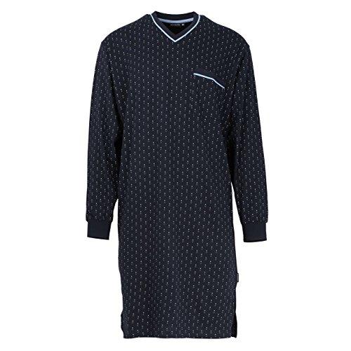 Götzburg Herren Nachthemd, Langarm, Baumwolle, Single Jersey, Navy, minimal 58 -