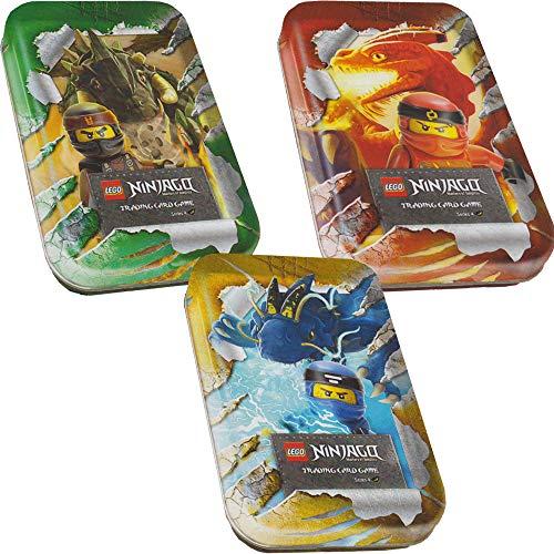 Blue Ocean Lego Ninjago - Serie 4 Trading Cards - Alle 3 verschiedenen Mini Tins - Deutsch