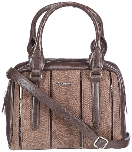 Tamaris ANDROMEDA Boston Bag A10403361, Damen Henkeltaschen, Braun (café 361), 25x19x15 cm (B x H x T) (Elegante Bag Boston)