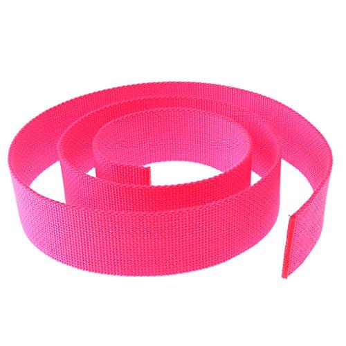 MagiDeal Buceo Cinturón Arnés de Peso 5 cm de Ancho Estándar - Rosado Fluorescente