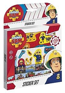 Totum 340015 - Juego de Pegatinas de Bombero (50 Unidades, 1 Escena de cartón), Multicolor