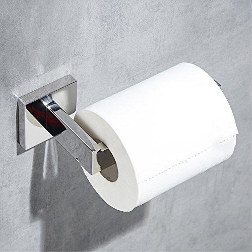 Rost Bad (Velimax SUS304 Edelstahl Toilettenpapierhalter Wand montiert WC-Papierrollenhalter Schwerlast Zeitgenössischer Stil Anti-Rost für Bad Poliertes Finish)