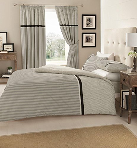 Goldstar® Valeria Grey Super King Size Duvet Cover Bedding Set