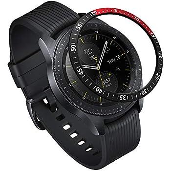 Ringke Bezel Styling pour Galaxy Watch [42mm] / Gear Sport Coque de Boîtier pour Montre Connectée Résistant aux Rayures [Aluminium] GW-42-10