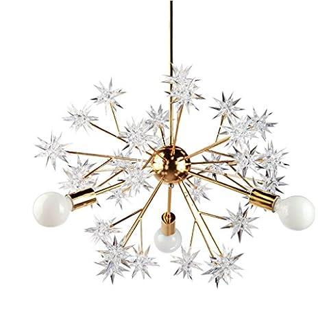 Tony's home- Post Moderne industrielle LED Kronleuchter Feuerwerk Sterne Anhänger Lampe Deckenbeleuchtung Lichter Hängendes (Auswahl Innen Anhänger 1 Licht)