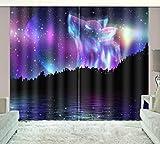 HONGYZCL Sternenklarer Digitaler Vorhang des Himmels 3D Passend Für Hauptschlafzimmerwohnzimmer,150Cm(W)×166Cm(H)