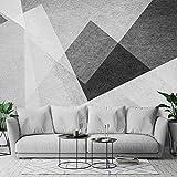 Nordic TV sfondo muro geometrico carta da parati soggiorno decorazione 8d mute semplice carta da parati moderna in bianco e nero murale rivestimento @ 5D panno di seta satinata in rilievo [senza