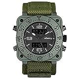INFANTRY® Herren Analog-Digital Armbanduhr Alarm Stoppuhr Outdoor Edelstahl Uhren Sport
