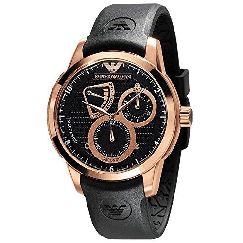 Reloj Emporio Armani® MECCANICO AR4619 de los hombres de color negro y oro Color de rosa de sonido envolvente con