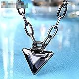 DCY-Angle Grand Collier Accessoires surdimensionnée en alliage diamant de verrouillage de la chaîne de la chaîne 46cm