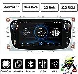 Estéreo para coche Android 8.1 para Ford Focus Mondeo Galaxy S-max | Radio de coche Android Octa Core unidad de radio con GPS Bluetooth 7 pulgadas pantalla táctil WiFi soporte USB/SD/AUX/RDS/DAB