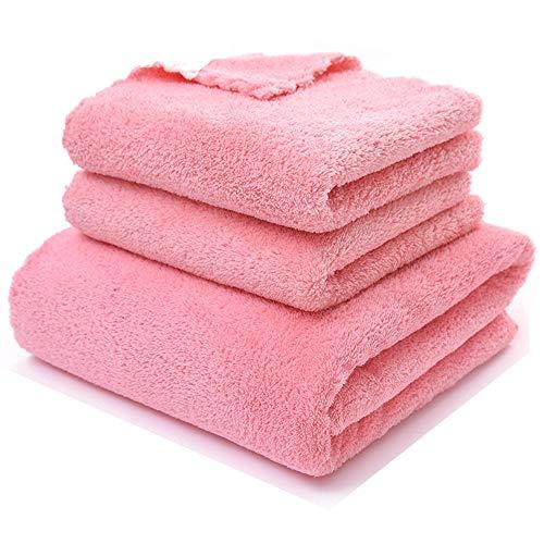 Towel, Korallensamen-Bade-Handtuch Set Glatte absorbierende Mikrofaser-Kinder Erwachsenen Badetuch, Absorbente, Gym, Laufen, Ciclismo, Yoga, Pilates, etc. Handtuch,Red