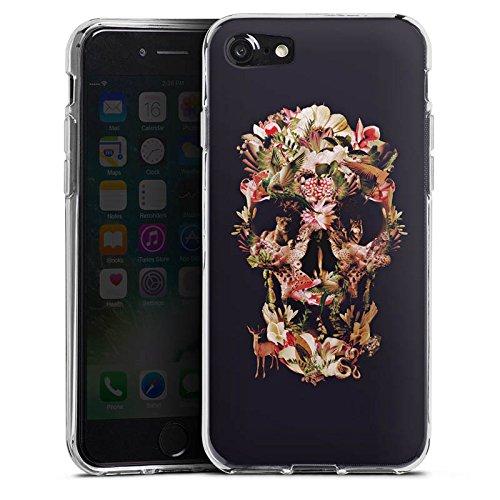 Apple iPhone X Silikon Hülle Case Schutzhülle Skull Totenkopf Schädel Silikon Case transparent