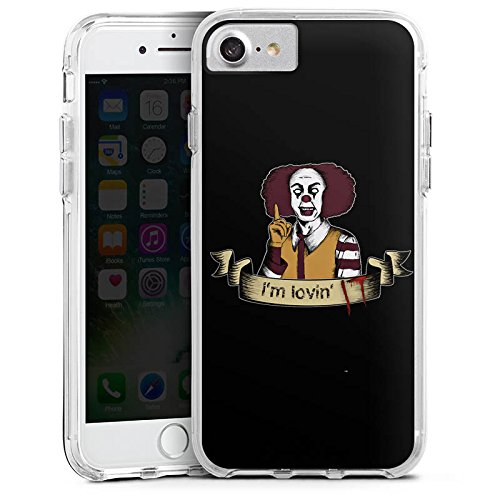 Apple iPhone 7 Bumper Hülle Bumper Case Glitzer Hülle Es Clown Horror Bumper Case transparent