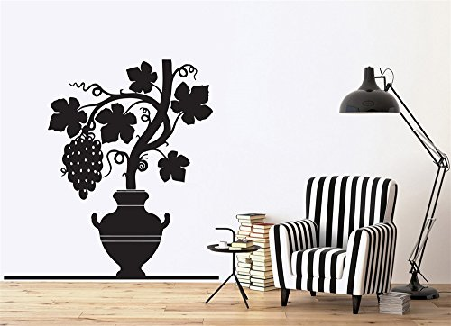 wandaufkleber katze DIY Removable Vinyl Aufkleber Wandbild Brief Wandaufkleber Natur Grapevine Reif Bund Pitcher Carved Leaves -