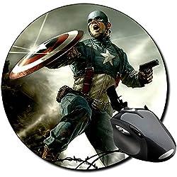 Capitan America Captain America A Alfombrilla Redonda Round Mousepad PC