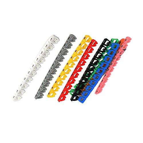 Juego de marcadores de cables - TOOGOO(R) Cable multicolor numeral 0-9 conjunto de marcadores de cable para Red