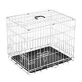 Homcom - Jaula de viaje plegable mascota perro gato mascotas 91 x 61 x...