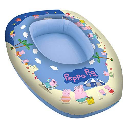 Boot Kinderboot Peppa Pig Wasser Spielzeug Wasserspaß Schlauchboot Badeboot Aufblasbar Schwimmhilfe Planschbecken Pool Paddelboot Schwimmbad Sommer Strand - Spielzeug für Kinder 80x54 cm blau bunt